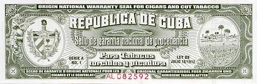 Dit is een sigaren label, hetzelfde bestaat voor rum