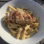 BBQ kip met romige pasta