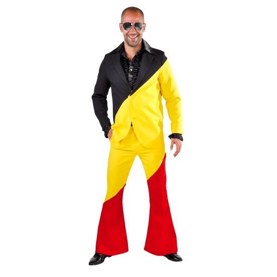 Ok... Dit is er misschien wat over maar waarom niet... Een Belgie kostuum voor disco-kikkers!