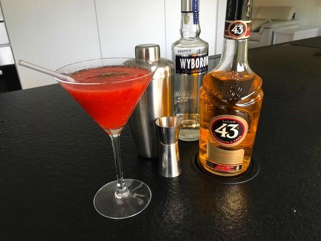 cocktail met aardbeien