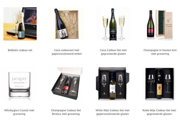 cadeaus met wijn en bubbels